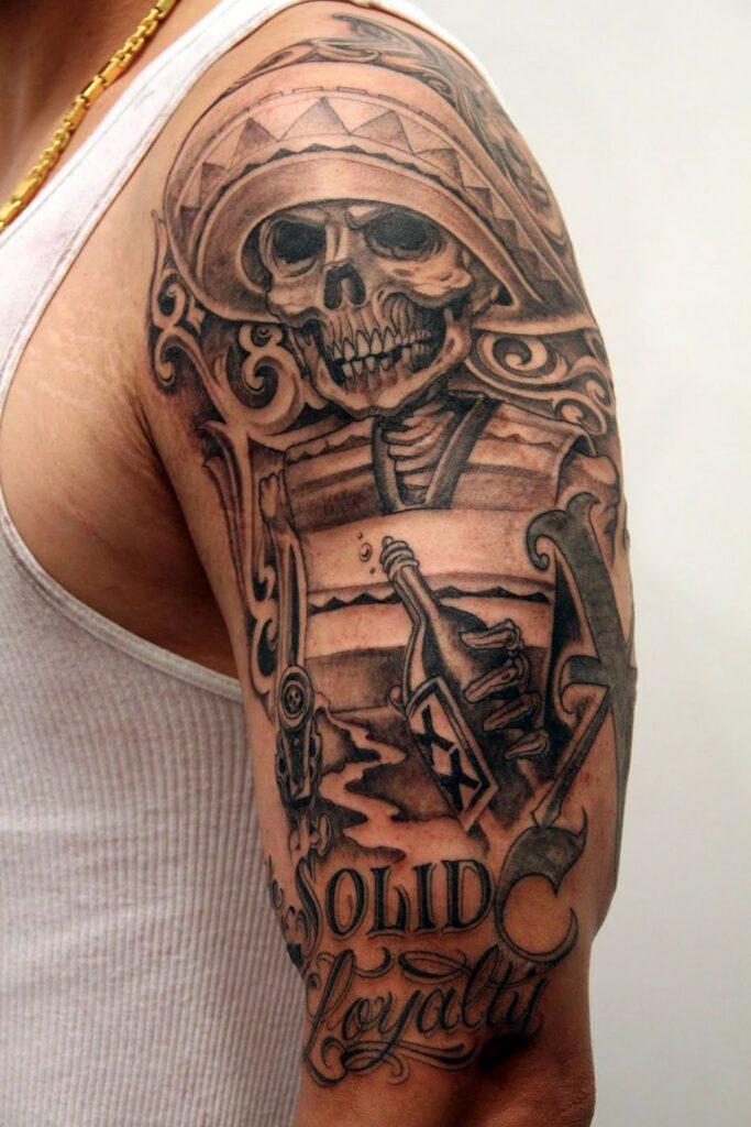 Aztec Style Skull Warrior