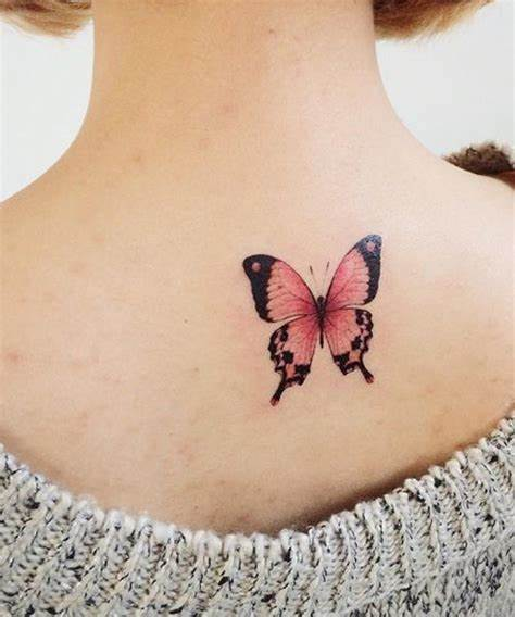 Butterfly word love Tattoo