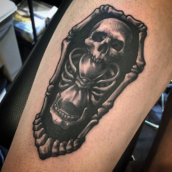 Skulls and Coffin Tattoo