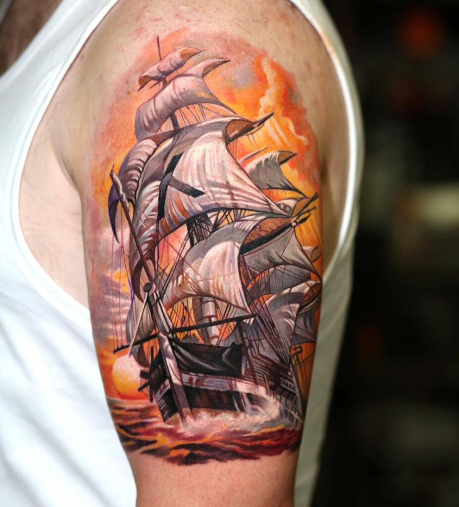 The sailing ship tattoo