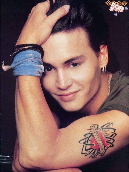 Betty Sue Tattoo of Johnny Depp