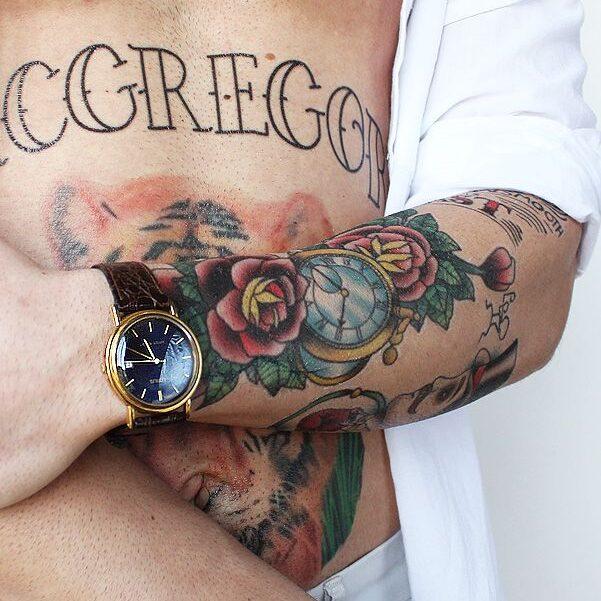 Rose Bush tattoo of McGregor