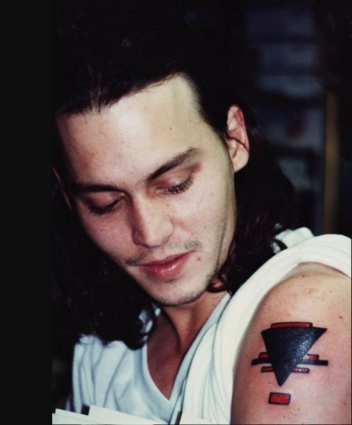 The Supremacism Triangle Tattoo of Johnny Depp
