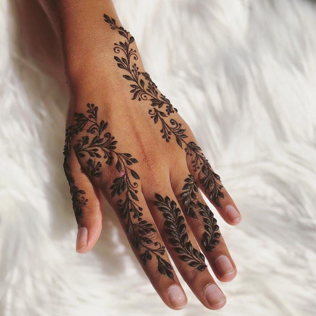 Vines and Leaves henna tattoos