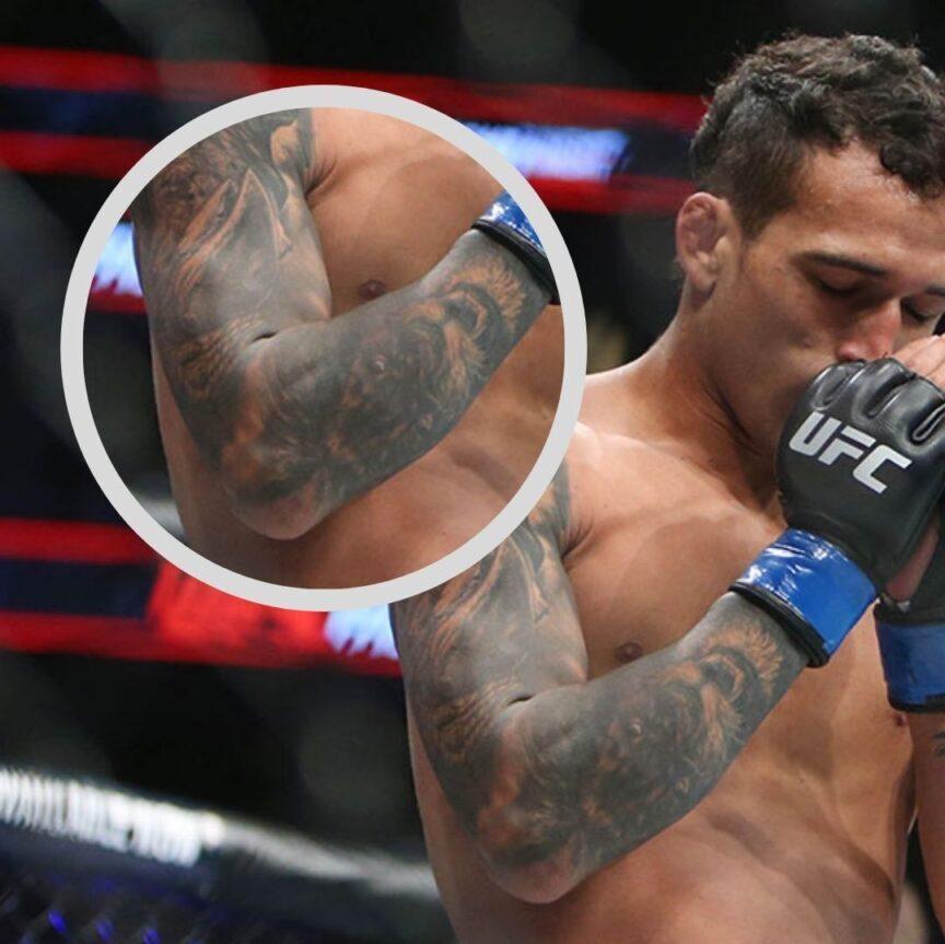 Charles Oliveira's lion tattoo