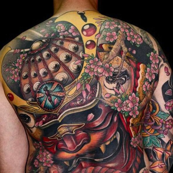 Cherry Blossom tattoo of Yakuza clan