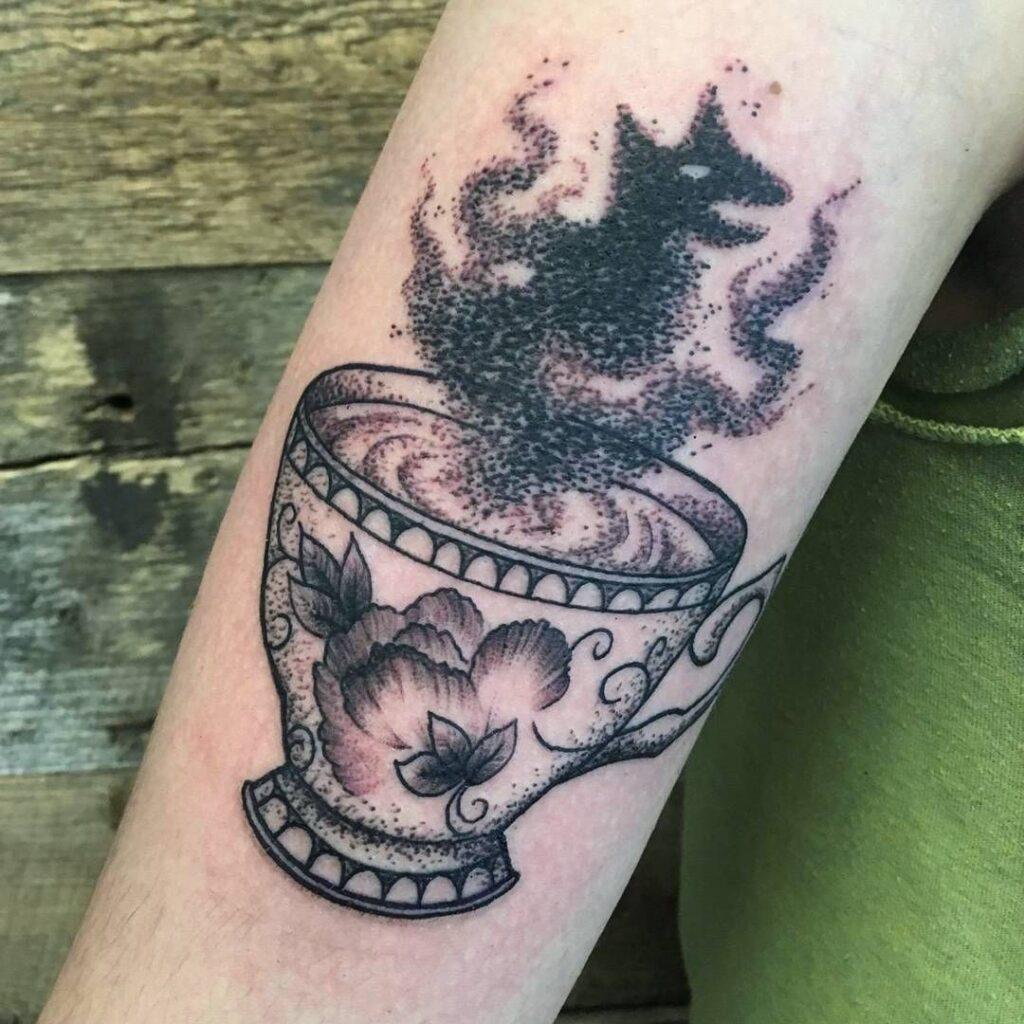 Grim Teacup Tattoo