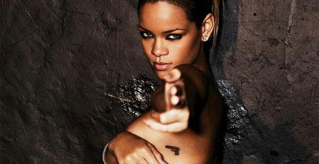 Handgun tattooof Rihanna