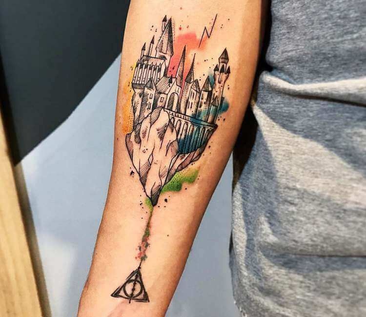 Hogwarts School Castle Tattoo