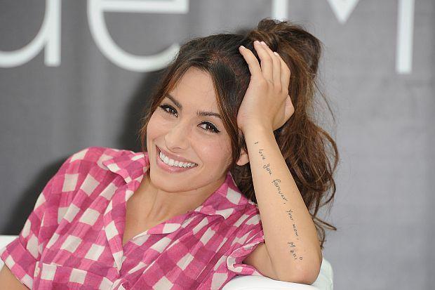 'I love you forever, Your mom, Moni'Tattoo of Sarah Shahi