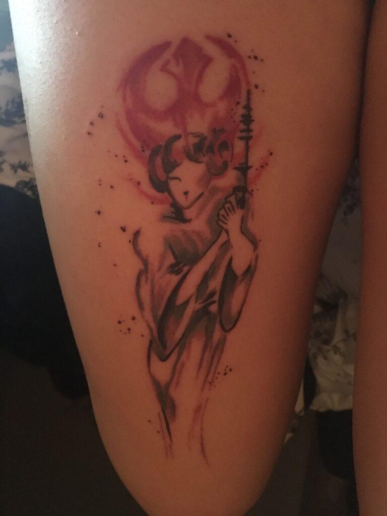 The Rebel Princess  Star Wars  Tattoo