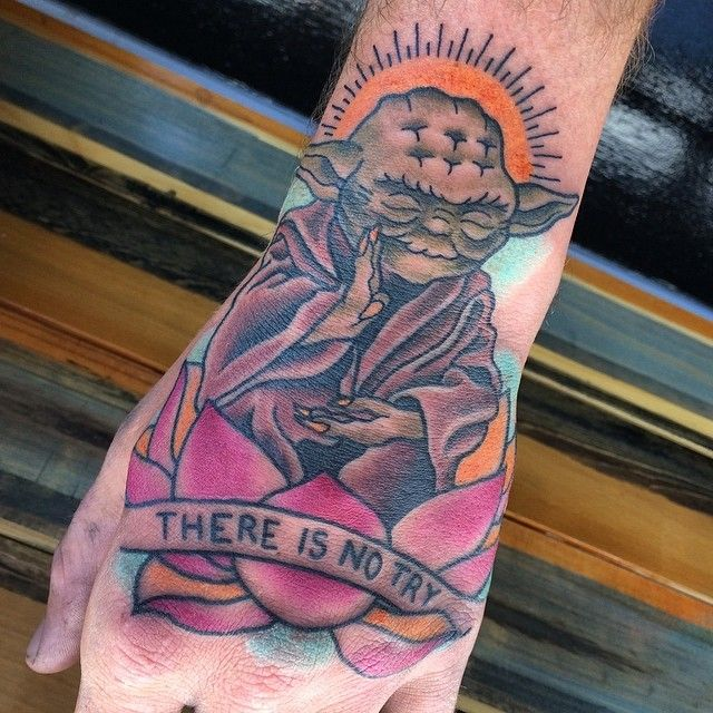 Wise Words Tattoo from Star Wars